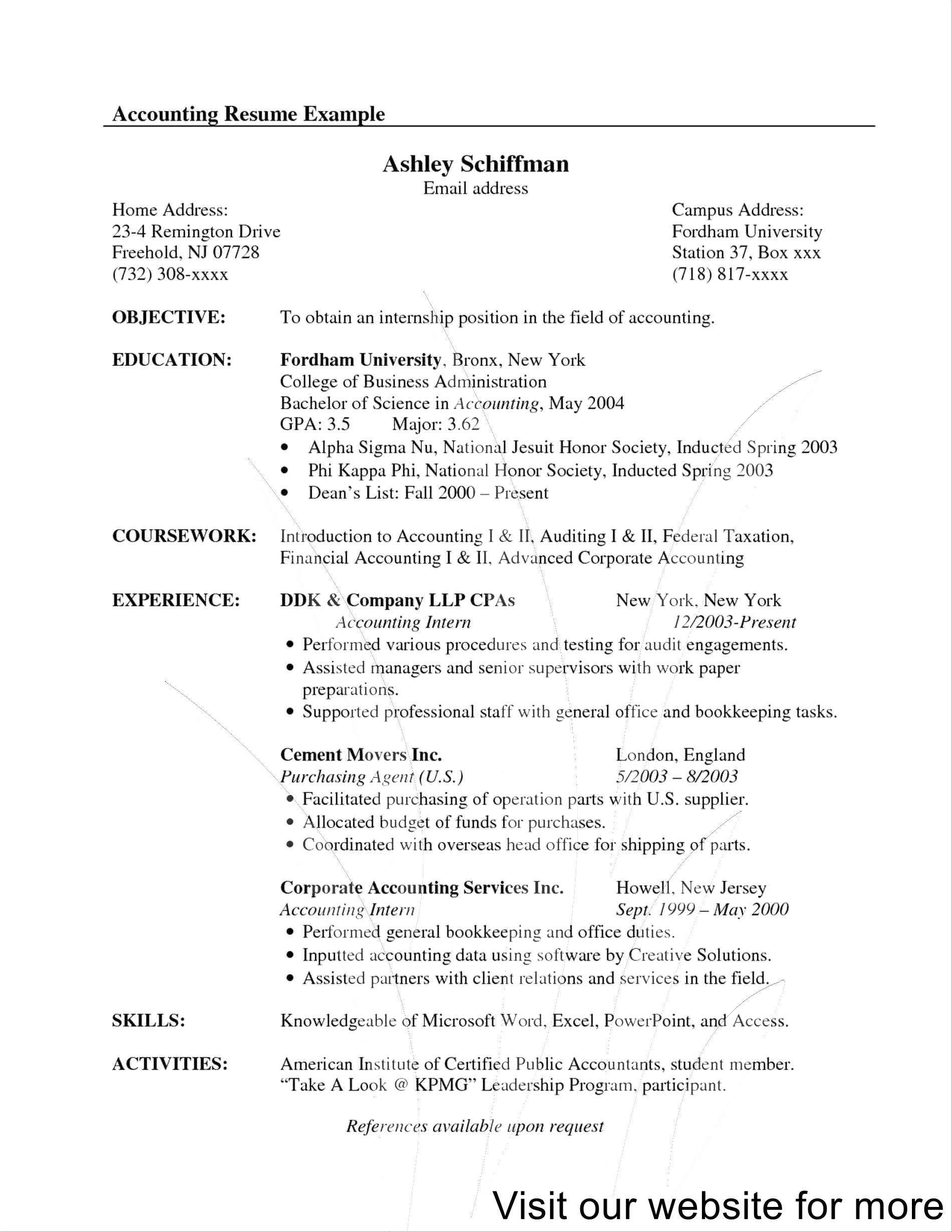 resume examples for freshers in 2020 Resume examples