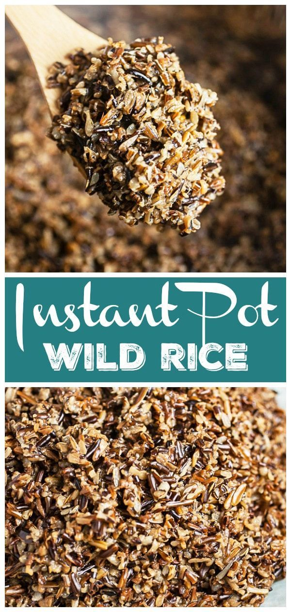 Instant Pot Wild Rice | The Rustic Foodie