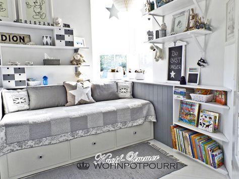 kids room ikea hack by wohnpotpourri hemnes daybed kinderzimmer kinderzimmer kinder zimmer. Black Bedroom Furniture Sets. Home Design Ideas