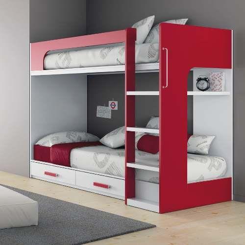 moderno camarote juvenil con escritorio cajon closet y mas
