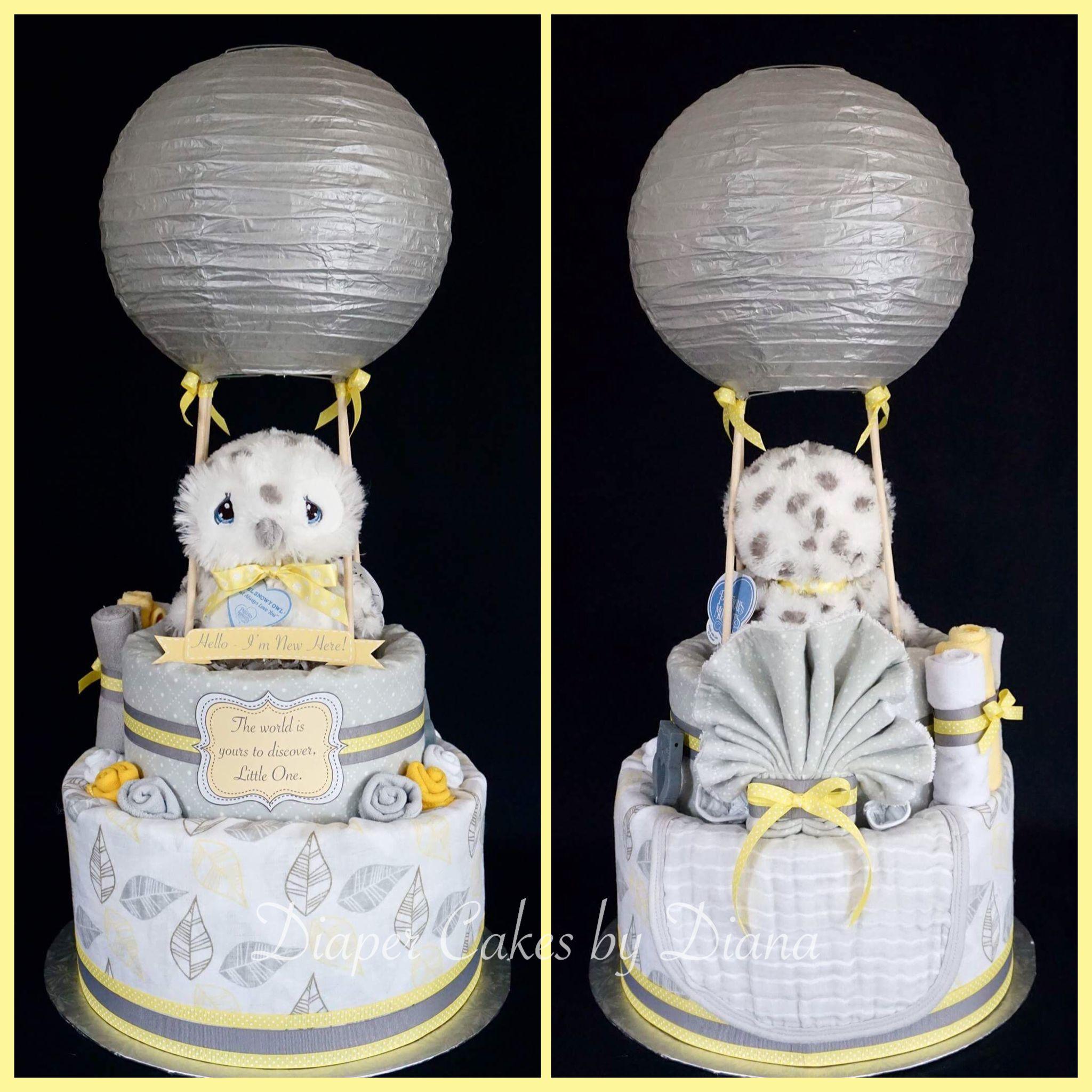 Gender Neutral Hot Air Balloon Diaper Cake Www Facebook Com