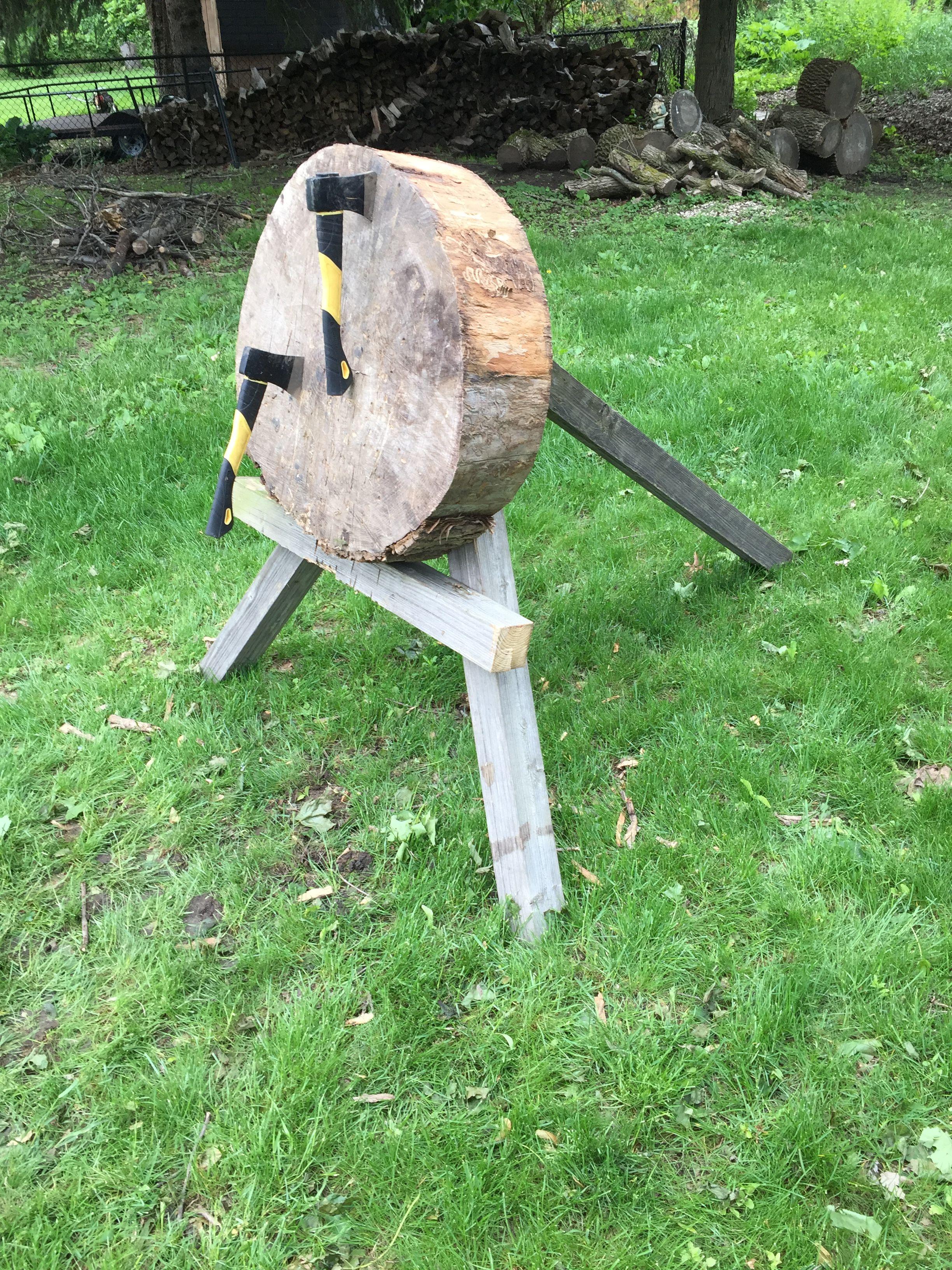 Ax target | Throwing axe, Throwing knife target, Diy ...