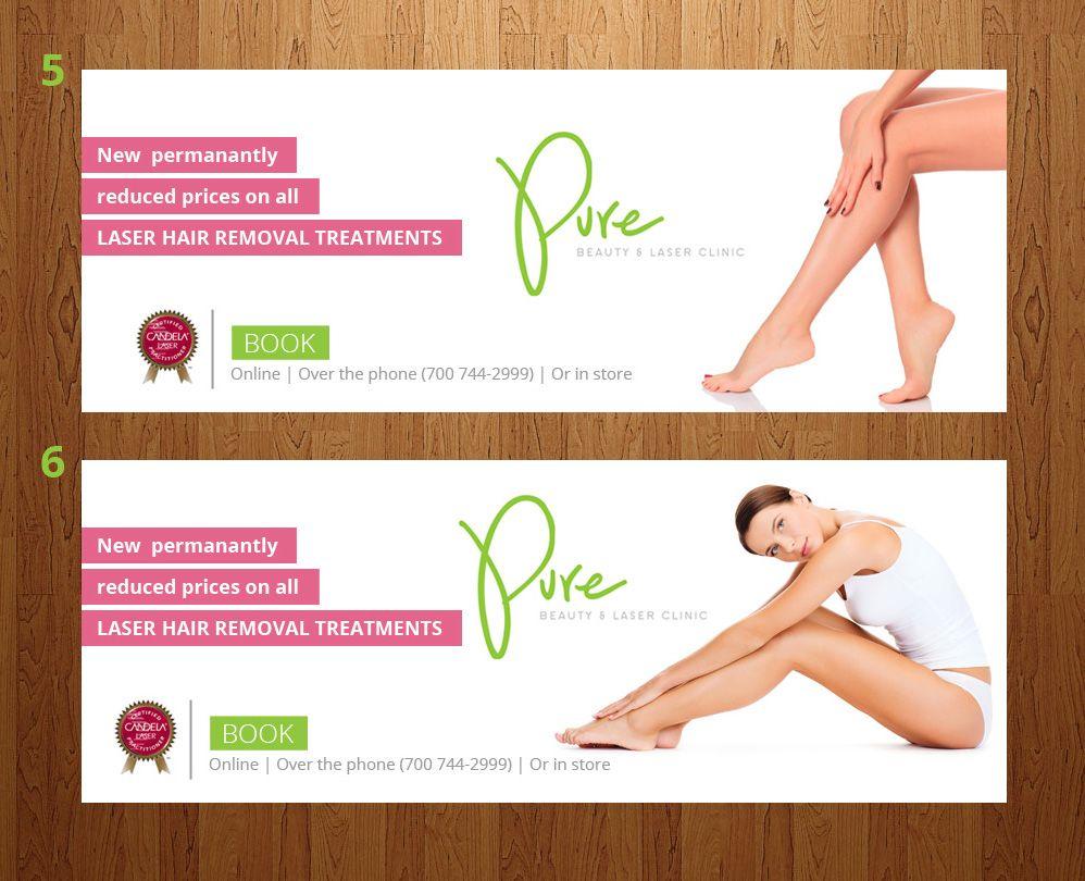 Banner Design For Laser Hair Removal Treatments Hair Removal Laser Hair Removal Treatment Laser Hair