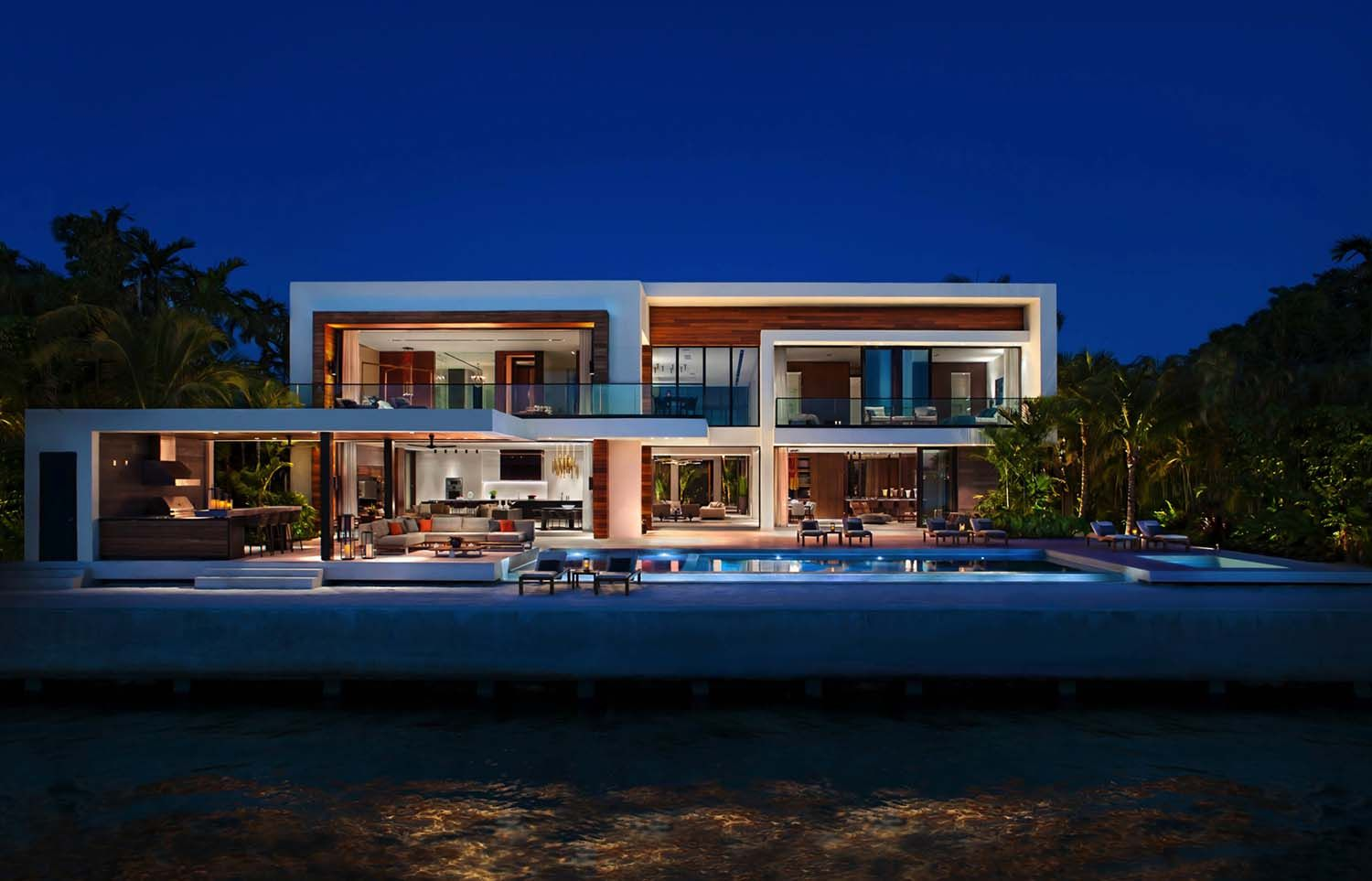 Opulent oceanfront home soaks in views of the Miami skyline