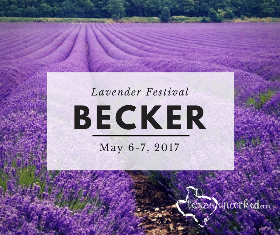 Becker S Lavender Festival May 6 7 2017 Texas Uncorked Things To