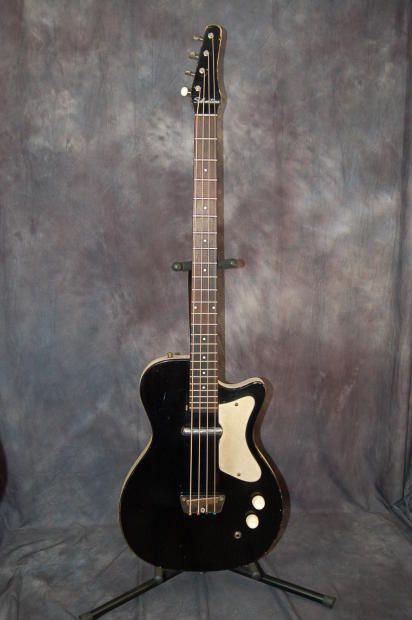Rare Vintage Silvertone Model 1444 U1 Bass Guitar New Gigbag 1961 Black Lawman Guitars Reverb Guitar Bass Guitar Vintage Guitars