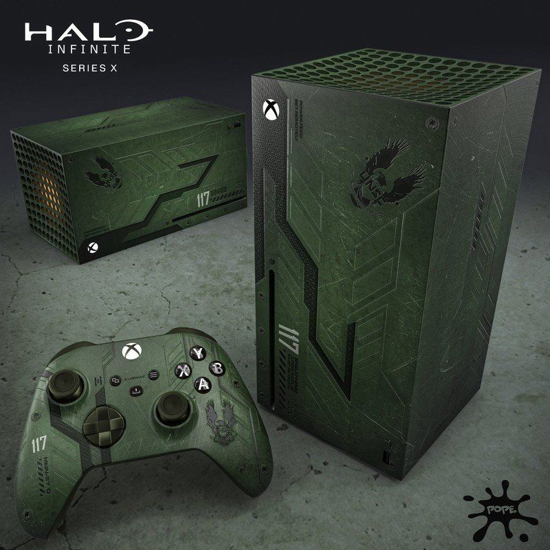 Xbox Series X Fan Art Envisions Halo Infinite Limited Edition Version Custom Xbox Xbox Accessories Custom Consoles