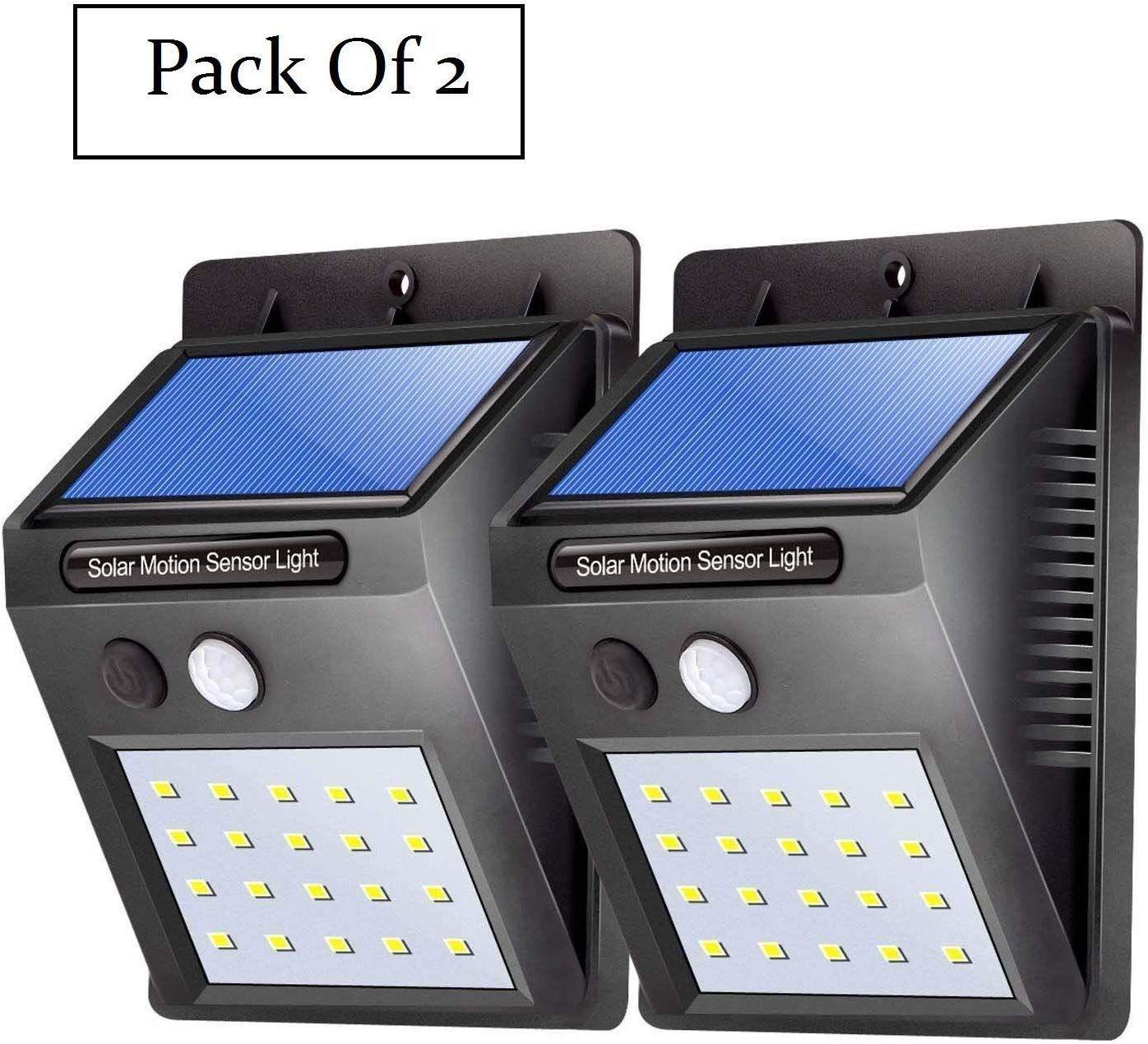 Motion Sensor 20 LED Solar Light, Outdoor Weatherproof for