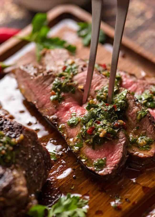 Chimichurri Steak #marinadeforskirtsteak