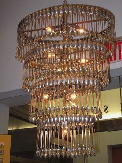 Spoon chandelier anyone? | Cool light fixtures, Chandelier ...