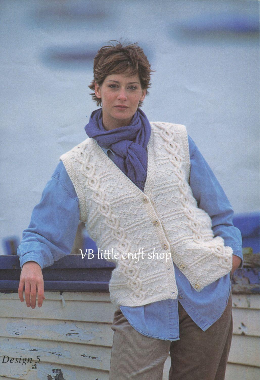 Ladys aran waistcoat knitting pattern instant pdf download by ladys aran waistcoat knitting pattern instant pdf download by vblittlecraftshop on etsy bankloansurffo Choice Image