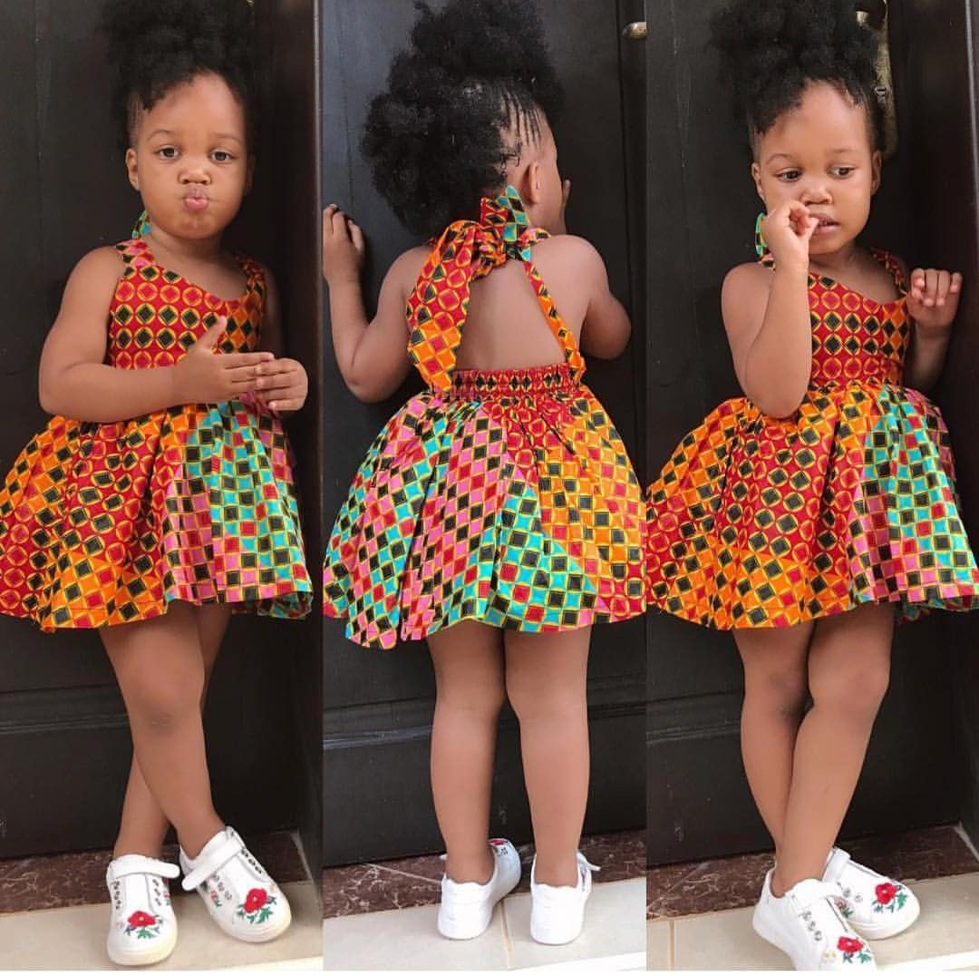 Pin By Sophie Flora Manyo On Mode Enfants Baby African Clothes African Dresses For Kids Kids Dress