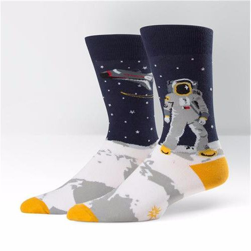 Sock It To Me Mens Crew One Giant Leap Socks