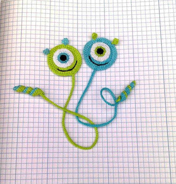 Crochet Bookmark Monster Gift Ideas For Book Lovers Crochet Smile Book  Lover Gift Bookmarks For Books Gift For Kids
