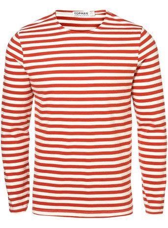 Red White Stripe Heavy Crew  c3aa10c187ecf