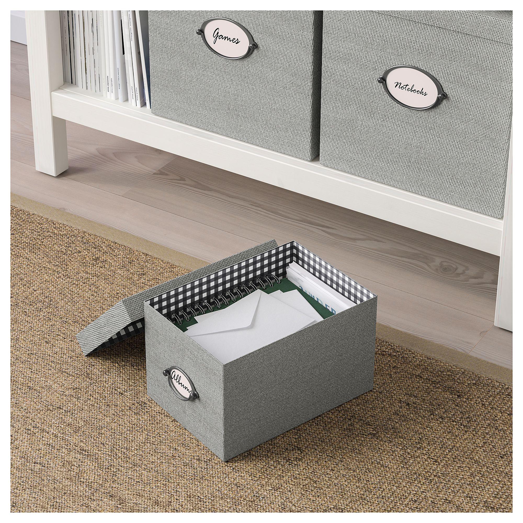 IKEA - KVARNVIK Storage Box With Lid Gray