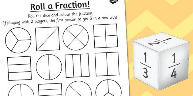 year 2 roll a fraction activity sheet fractions fraction activities fractions worksheets. Black Bedroom Furniture Sets. Home Design Ideas