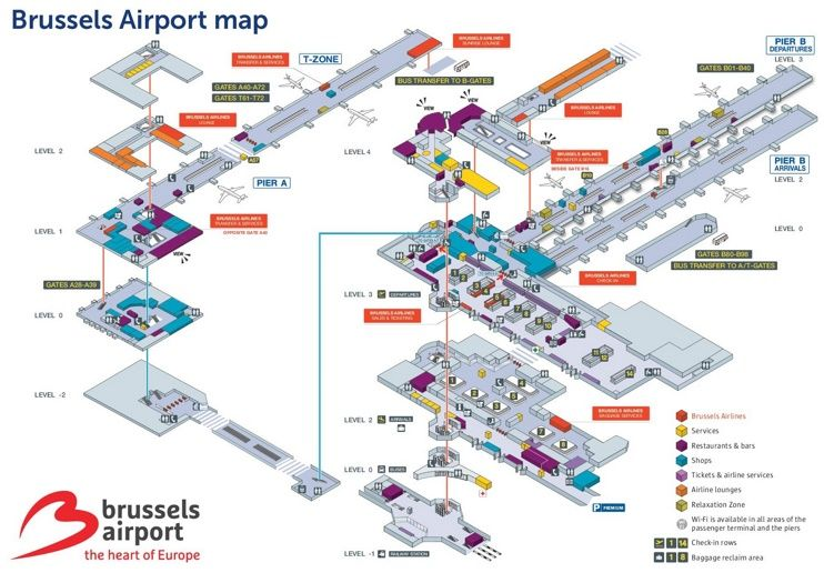 Brussels airport map Maps Pinterest Brussels airport Belgium