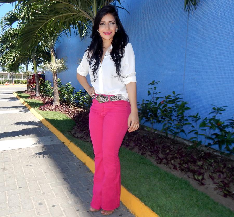 Diário da Moda: Look do dia: Calça Flare pink