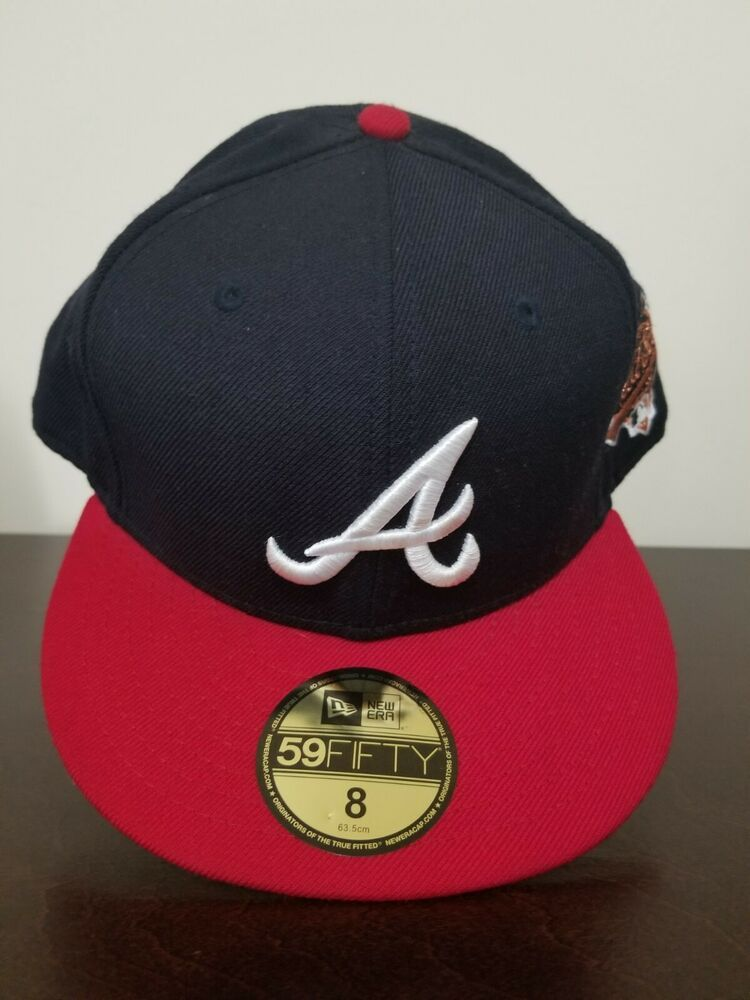 Atlanta Braves New Era 1995 World Series Wool 59fifty Fitted Hat Blue Red Size 8 Fashion Clothing Shoes Accessor Fitted Hats New Era 59fifty Atlanta Braves