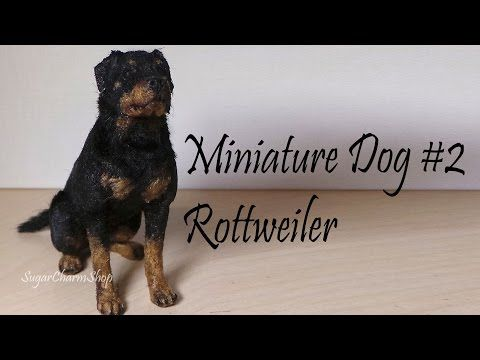 Polymer Clay Tutorial; Miniature Dog #2; Rottweiler - YouTube