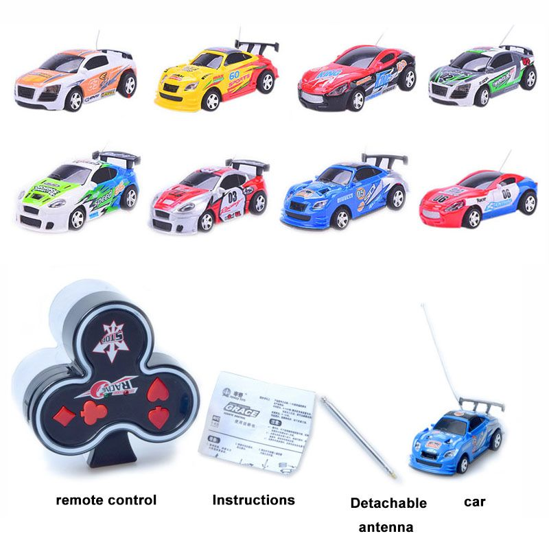 Coke Can Mini Rc Car 4wd 4ch Micro Poker Print High Speed Radio Remote Control Racing Toy Car With 12 Color 2016 Hot Sale Rc Cars Remote Control Toys Car Manufacturers