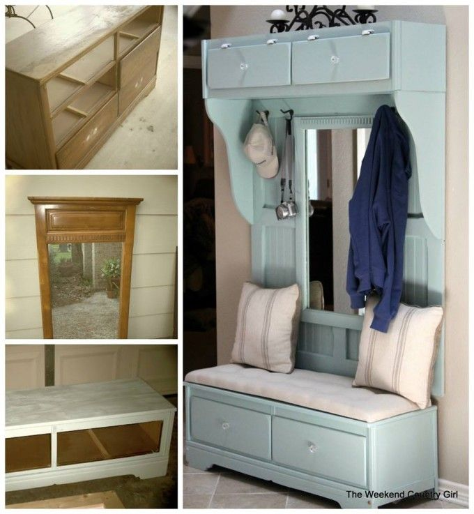 Turn a Dresser into a Mud Room Bench..awesome Upcycle Ideas! | Diy ...