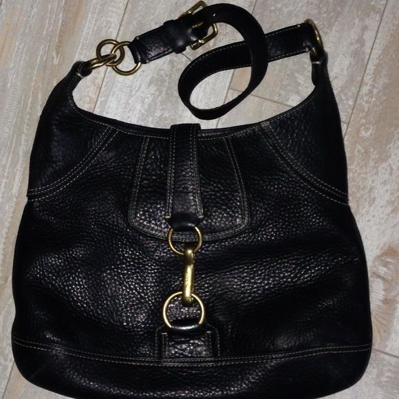 Final Markdown Coach 10210 Pebbled Blk Leather H Leather Hobo