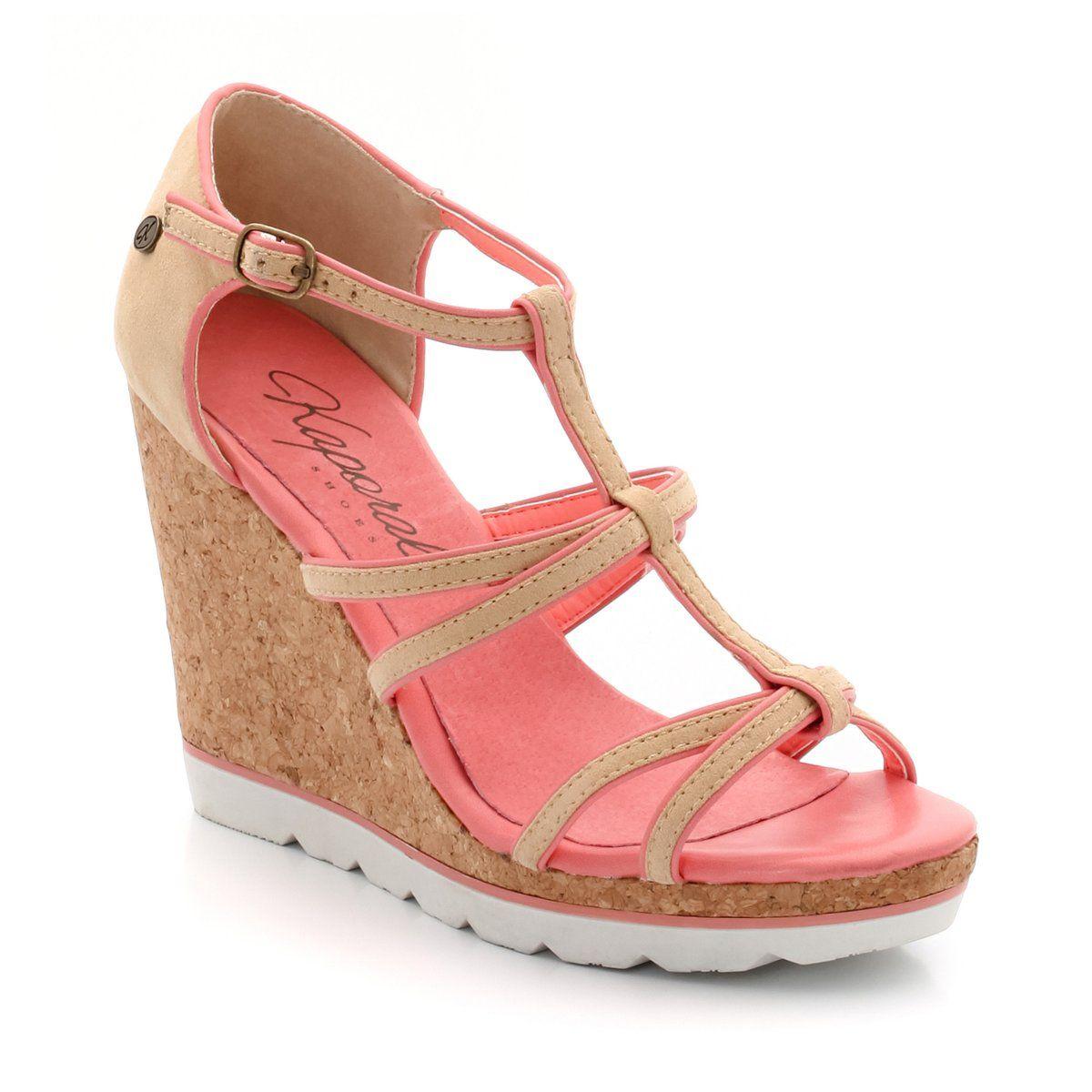 Sandálias com várias presilhas, rasto de cunha, Cassy | KAPORAL 5 | La Redoute