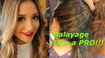 how to balayage - YouTube