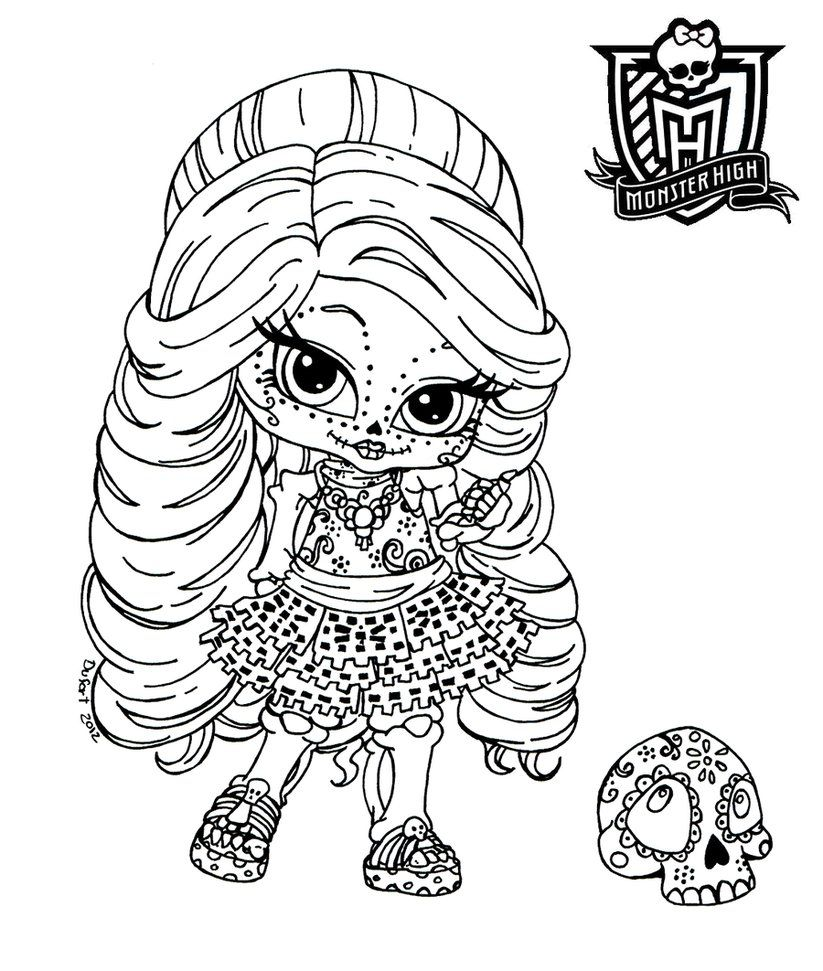 part of the monster high linearts serie. i know skelita doesn't ... - Coloring Pages Monster High Dolls