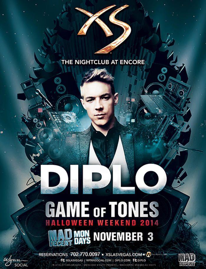 diplo-game-of-tones-xs-nightclub-encore-las-vegas-mon-november-3rd - club flyer maker