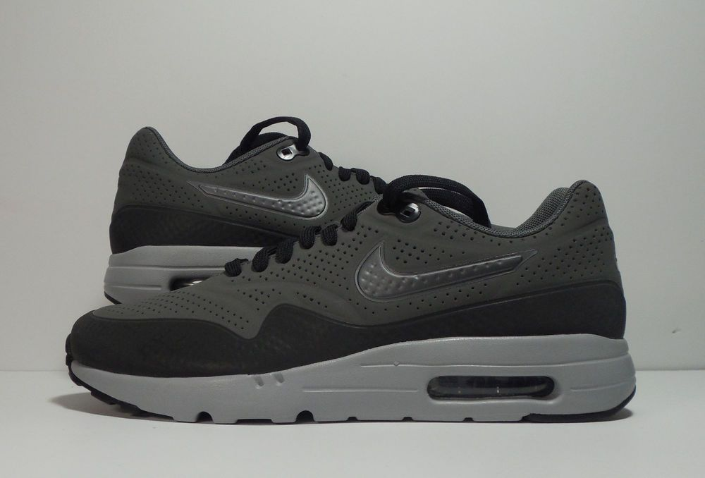 Details about NIKE AIR MAX 1 ULTRA MOIRE ID BLACK GREY WHITE