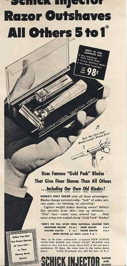 Schick Injector Razor ad  | Commercial ads | Commercial ads, Old ads