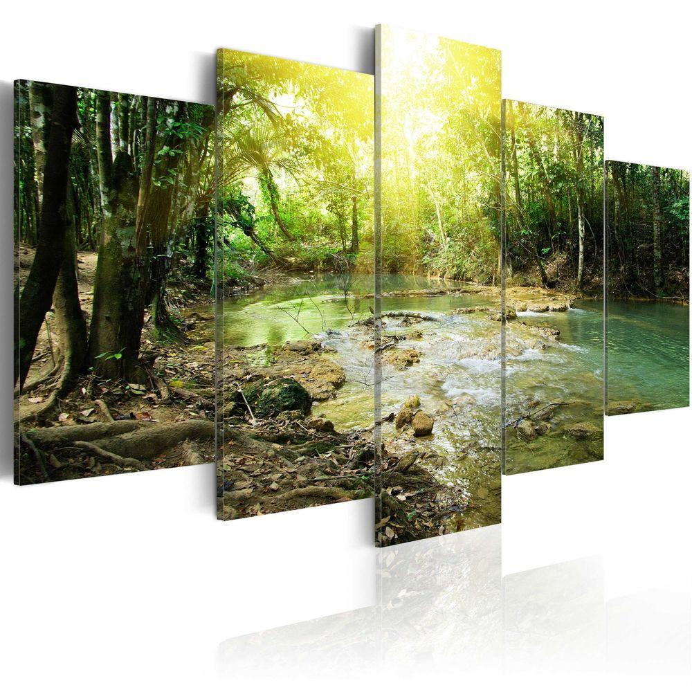 Leinwand Bilder Xxl Fertig Aufgespannt Bild See Wald Natur C B 0034 B M Wandbilder Bilder Leinwand