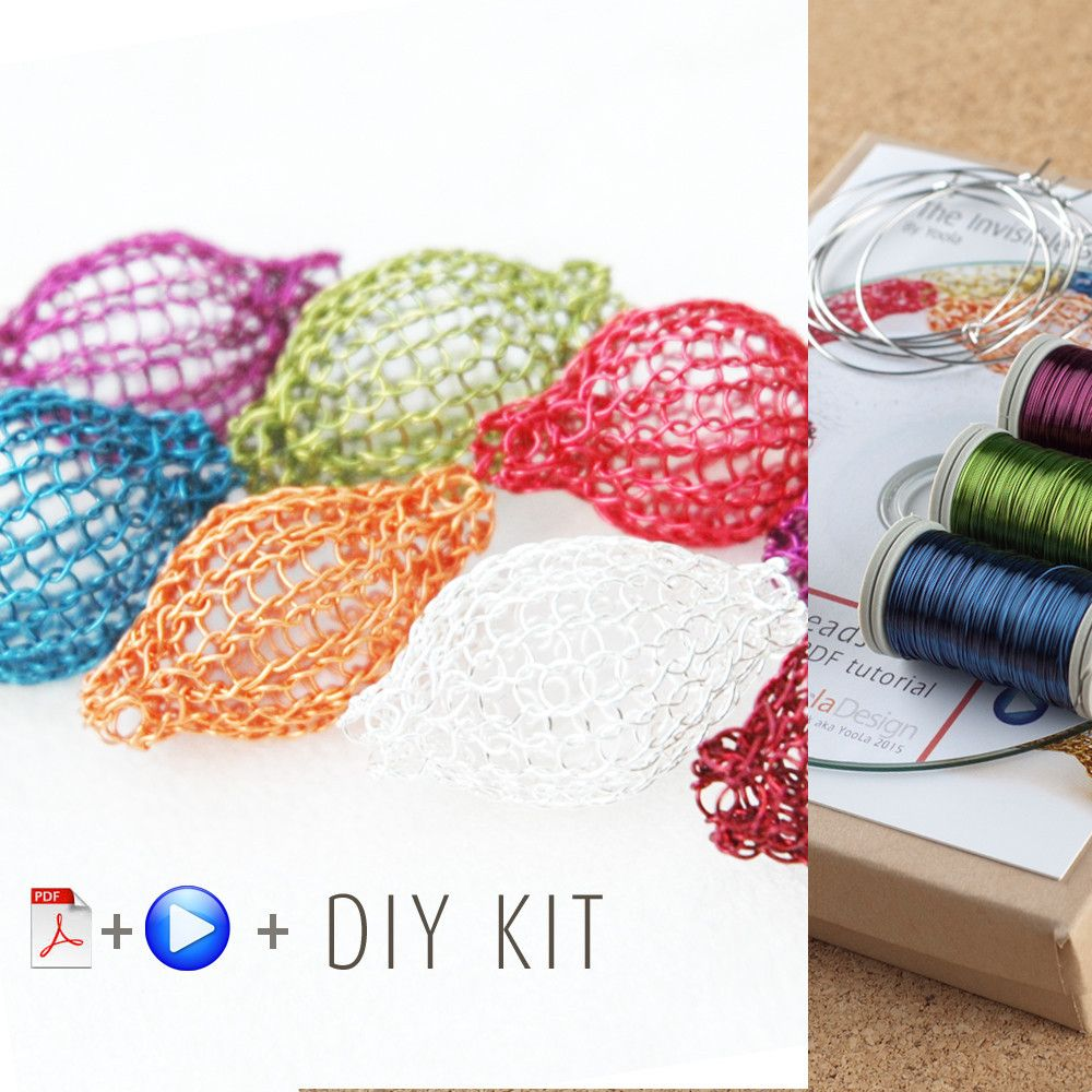 How to wire crochet Pixie beads - DIY kit   Alambre