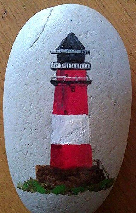 Svetionik | Steine bemalen | Leuchtturm - Ideen Blog#bemalen #blog #ideen #leuchtturm #steine #svetionik