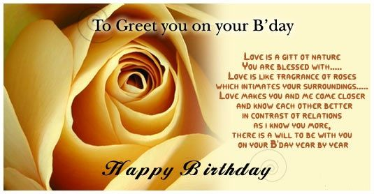 Birthday Cards Quotes For Friends ~ Happy birthday wishes for friend with rose quotations pinterest