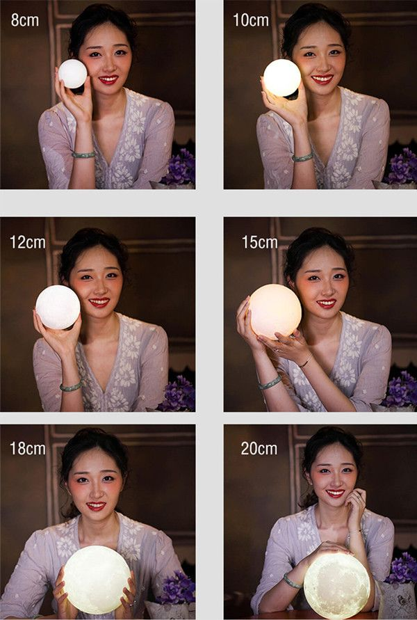 3d Printer Moon Lamp Sieze Moon Moonlamp Moonsize Size Gift Like Funny Cute Gift Beautiful Wife Birthday Gift For Him Gifts For Girls 3d Printing
