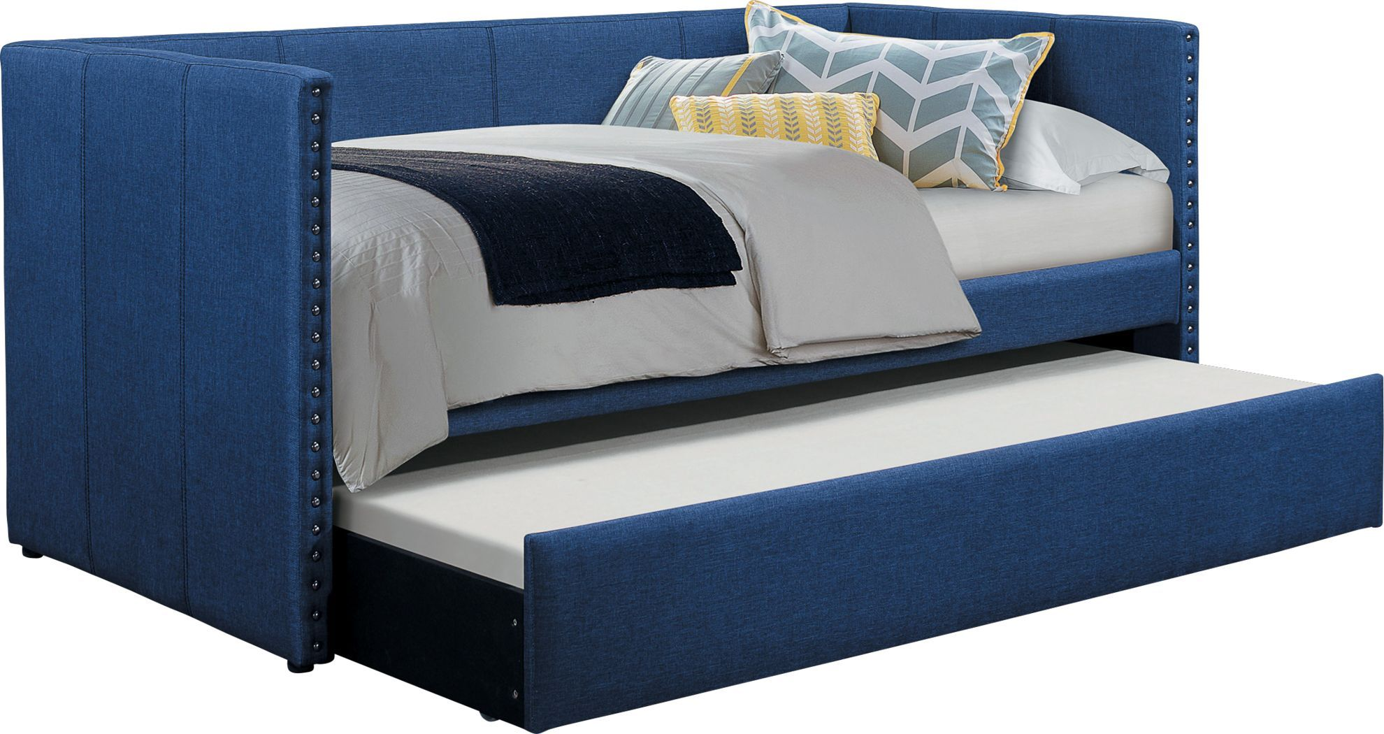 Sanford Way Blue Daybed with Trundle Daybed with trundle