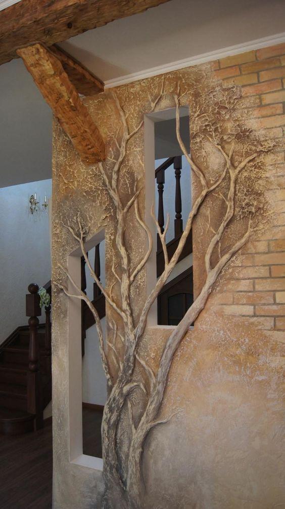 Gli artisti del cartongesso come rendere una o pi pareti for Abbellire parete