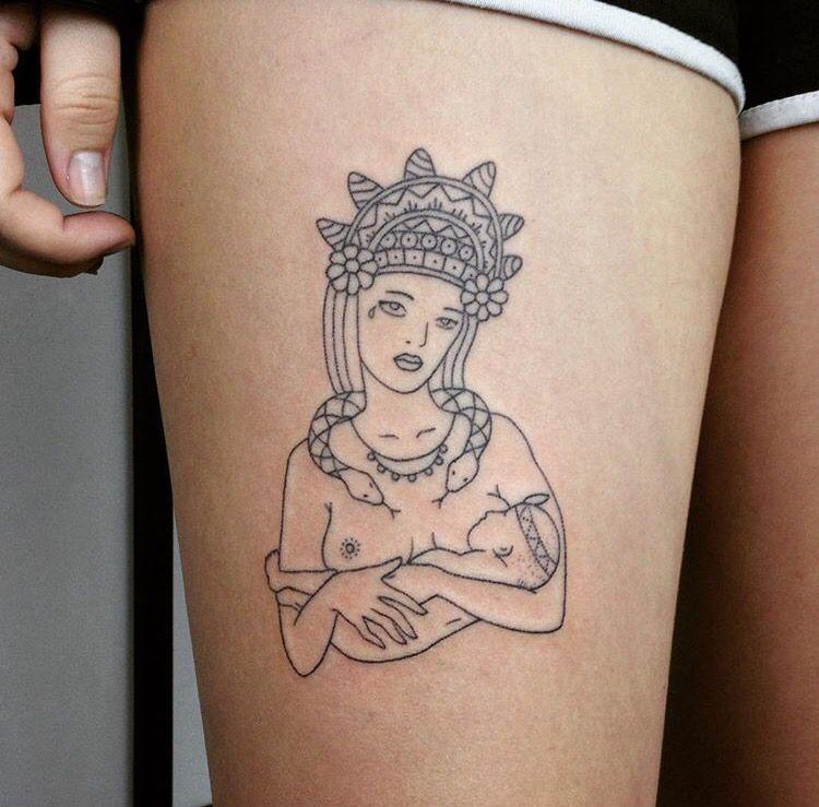 Stick n poke tattoo by tati compton