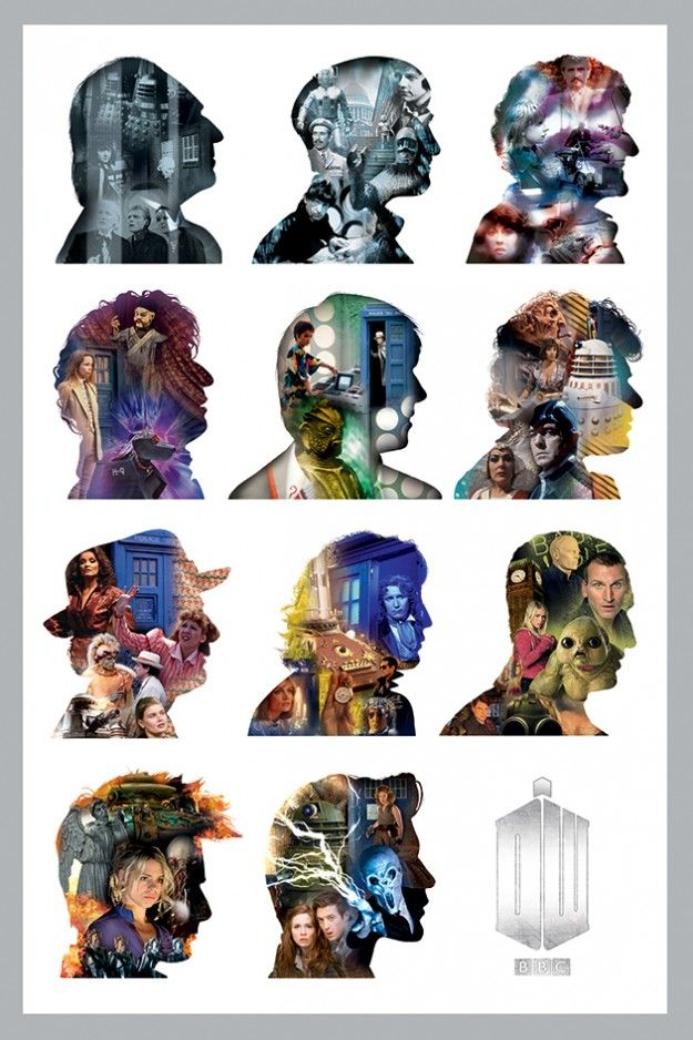 Doctor Who Silhouette Maxi Poster