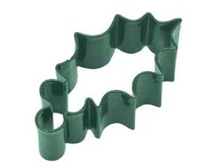 """HOLLY LEAF 3.25"""" Cookie Cutter  GREEN"""