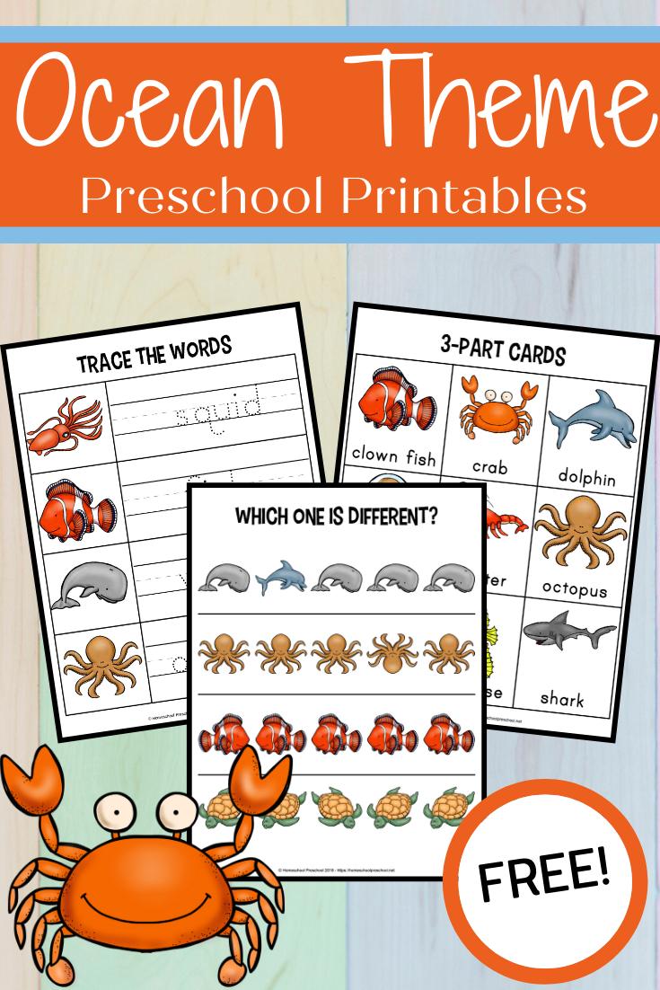 Free Printable Preschool Ocean Worksheets Ocean Theme Preschool Summer Preschool Themes Ocean Themes [ 1102 x 735 Pixel ]