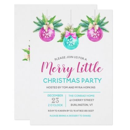 CHANGE COLOR - Christmas Holiday Party Invitation - christmas cards