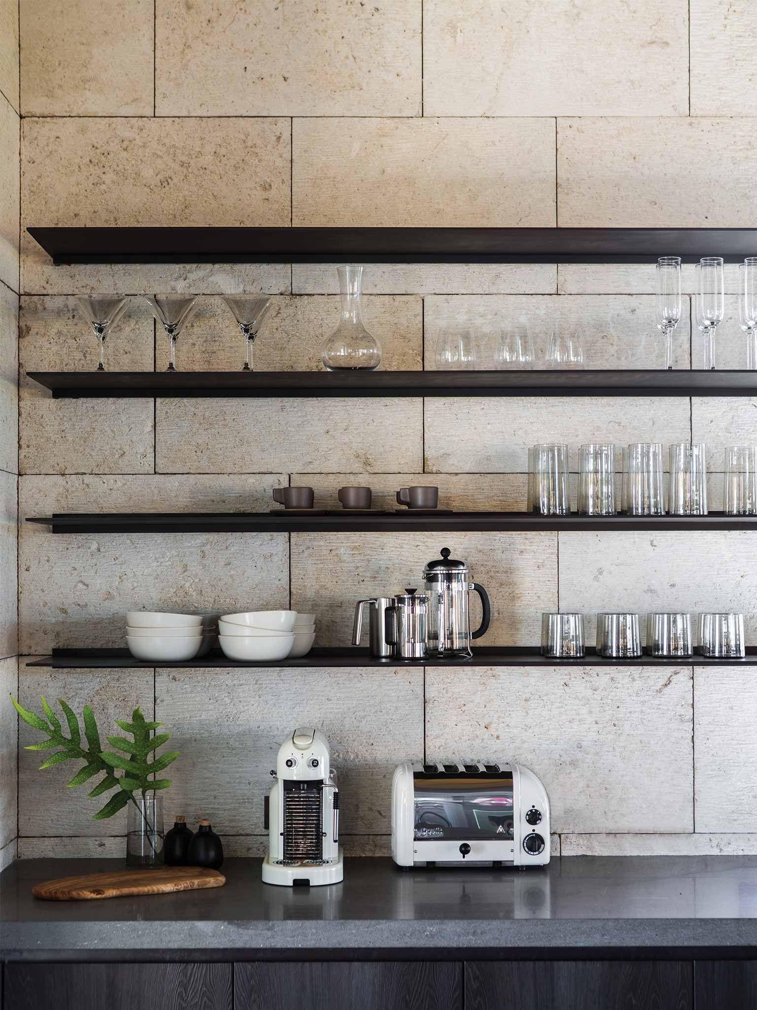 NICOLEHOLLIS KONA COAST RETREAT HAWAII KITCHEN / · Kitchen SeatingShelf  DesignModern ...