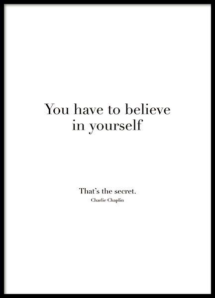 Believe In Yourself Plakat Med Bilder Tillsammans Citat Inspirerande Citat Citat Om Styrka