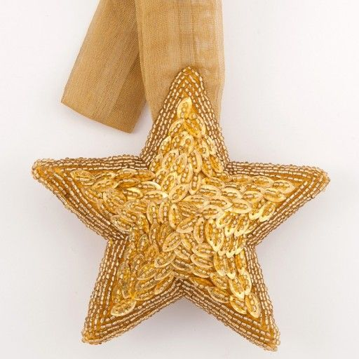 Large Gold Embroidered Star - £5.95