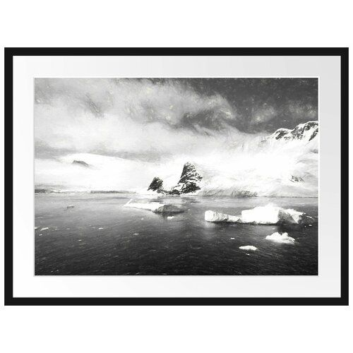 Photo of East Urban Home Antarctic Winter Landscape Framed Photographic Art Print Poster | Wayfair.co.uk